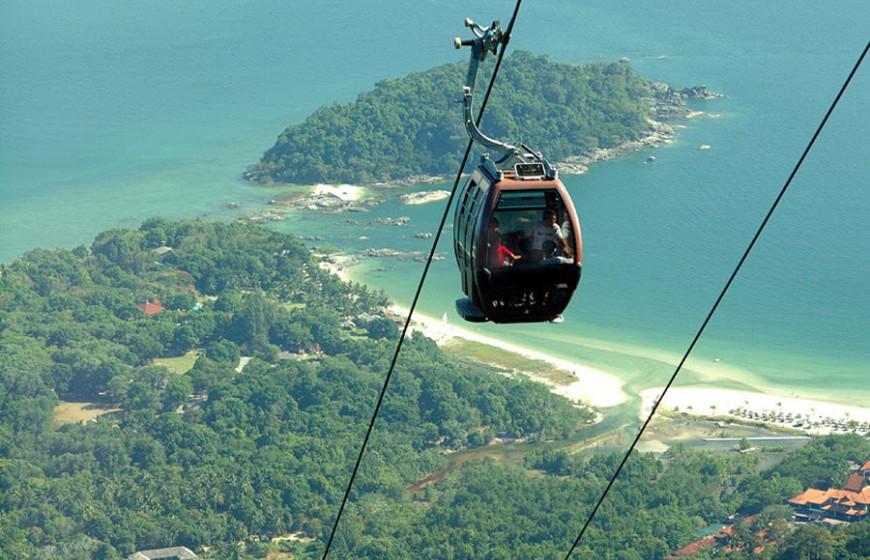 التليفريك - جزيرة لانكاوي - معلومات ماليزيا - سياحة ماليزيا - اماكن سياحية في ماليزيا